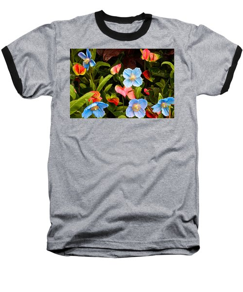 New World And Old World Exotic Flowers Baseball T-Shirt