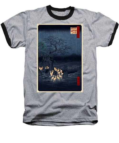 New Years Eve Foxfires At The Changing Tree Baseball T-Shirt