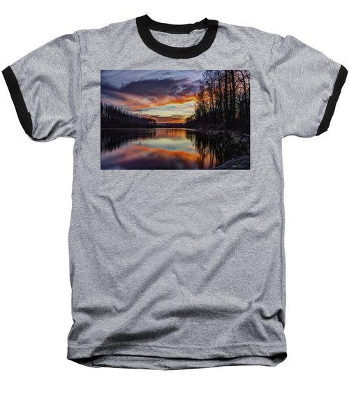 New Years Eve Sunset Baseball T-Shirt