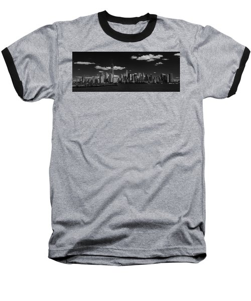 New York 1 Black And White Baseball T-Shirt