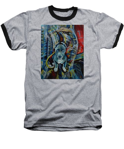 Baseball T-Shirt featuring the painting New York by Anna  Duyunova
