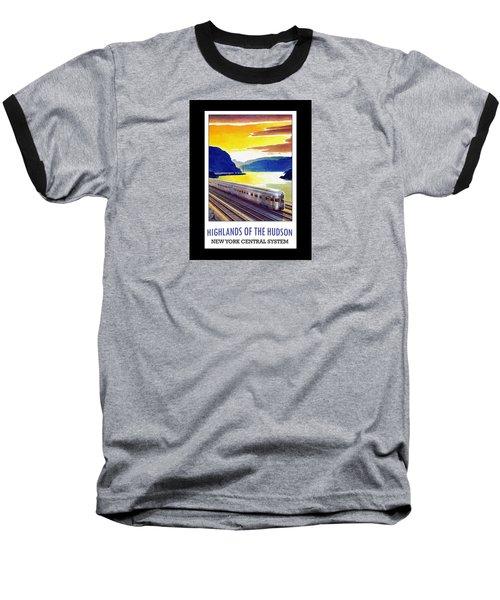 New York Central Vintage Poster Baseball T-Shirt