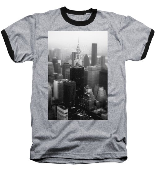New York City - Fog And The Chrysler Building Baseball T-Shirt by Vivienne Gucwa