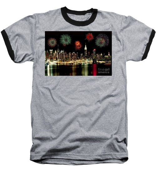 New York City Fourth Of July Baseball T-Shirt