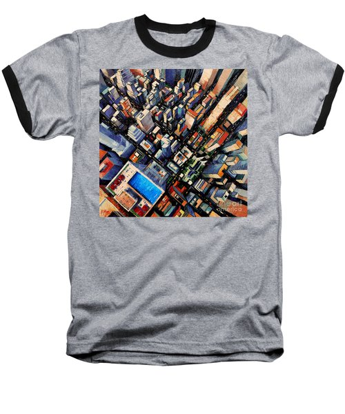 New York City Sky View Baseball T-Shirt