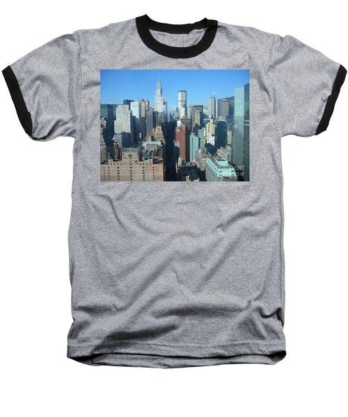 Baseball T-Shirt featuring the photograph New York City Skyline by Dora Sofia Caputo Photographic Art and Design