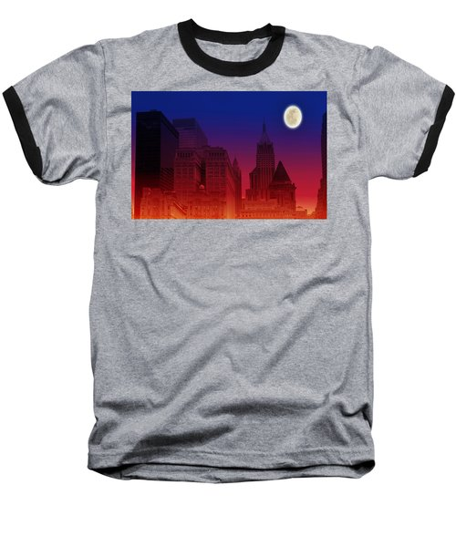 New York City Skyline Baseball T-Shirt