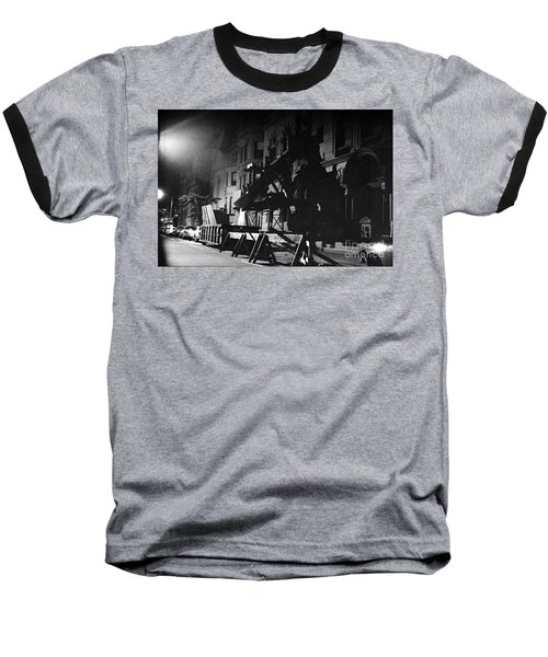 Baseball T-Shirt featuring the photograph New York City Street by Steven Macanka