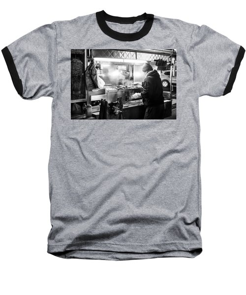 New York City Street Vendor Baseball T-Shirt