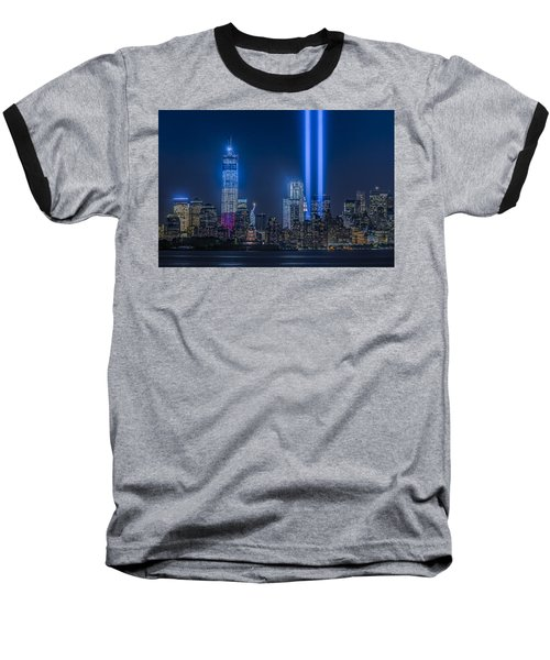 New York City Tribute In Lights Baseball T-Shirt