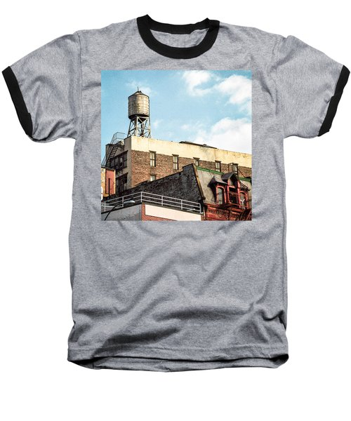 New York City Water Tower 2 Baseball T-Shirt