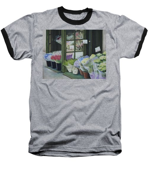 New York Flower Shop Baseball T-Shirt