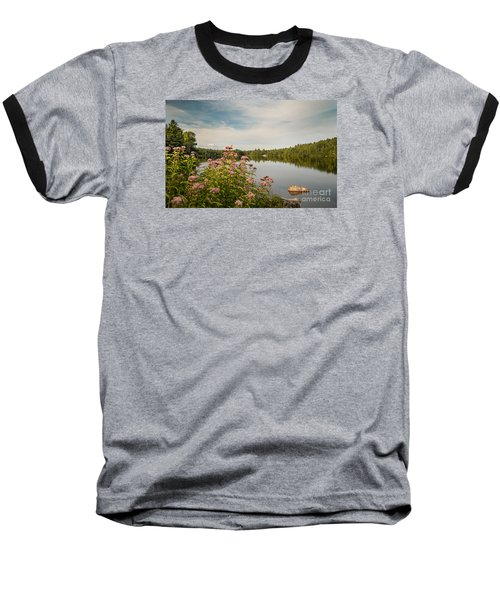Baseball T-Shirt featuring the photograph New York Lake by Debbie Green