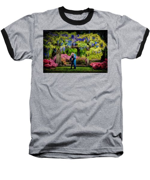 Baseball T-Shirt featuring the photograph New York Lovers In Springtime by Chris Lord