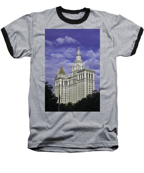 New York Municipal Building Baseball T-Shirt