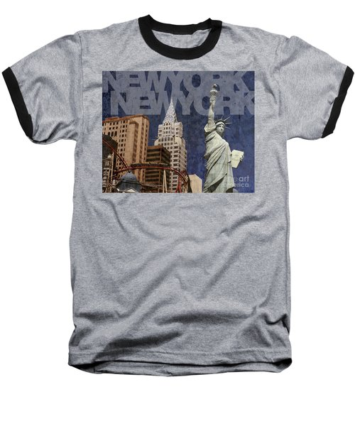 New York New York Las Vegas Baseball T-Shirt