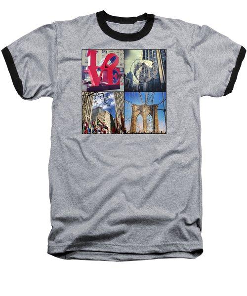Baseball T-Shirt featuring the photograph New York Sights  by Kerri Farley