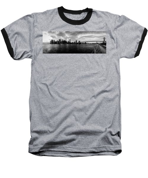 New York Skyline Baseball T-Shirt by Nicklas Gustafsson
