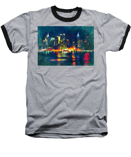 New York State Of Mind Abstract Realism Baseball T-Shirt