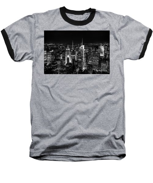New York Times Square Bw Baseball T-Shirt