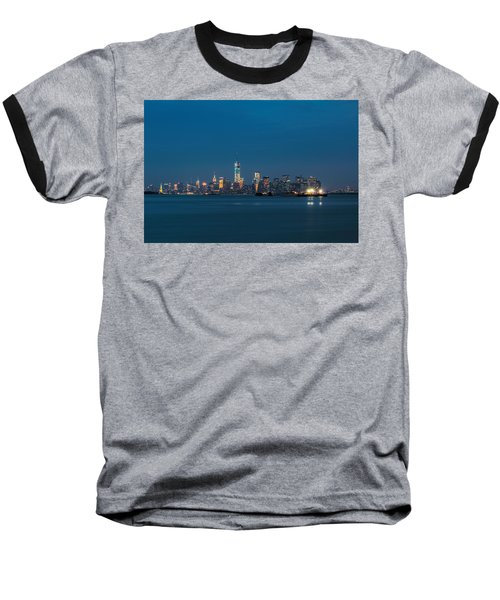 New York Twilight Baseball T-Shirt by Jonathan Davison