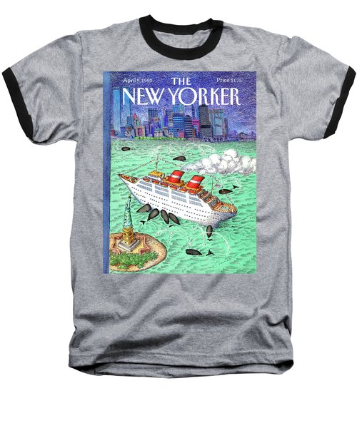 New Yorker April 9th, 1990 Baseball T-Shirt