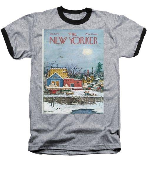 New Yorker January 6th, 1973 Baseball T-Shirt
