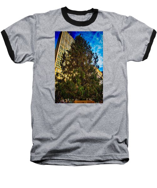 Baseball T-Shirt featuring the photograph New York's Holiday Tree by Chris Lord