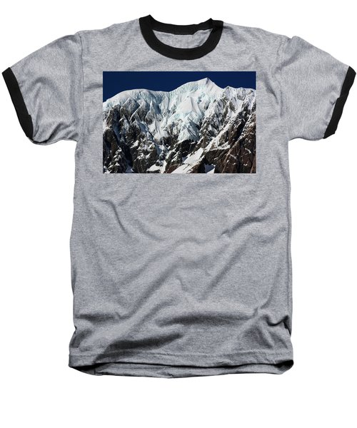 Baseball T-Shirt featuring the photograph New Zealand Mountains by Amanda Stadther
