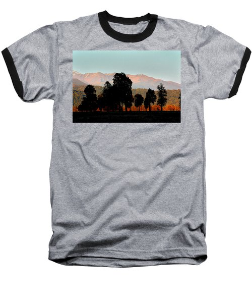 Baseball T-Shirt featuring the photograph New Zealand Silhouette by Amanda Stadther