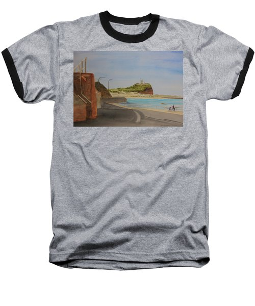 Baseball T-Shirt featuring the painting Newcastle Nsw Australia by Tim Mullaney