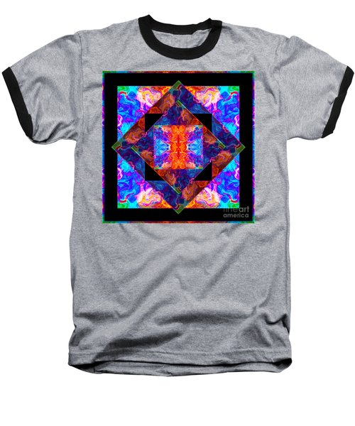 Newly Formed Bliss Mandala Artwork Baseball T-Shirt
