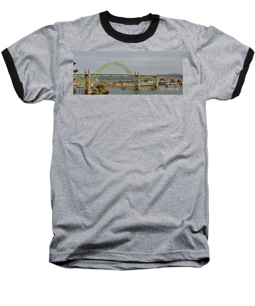 Newport Bay Bridge Baseball T-Shirt by Susan Garren