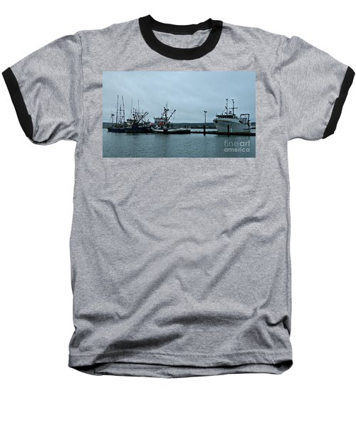 Newport Fishing Boats Baseball T-Shirt by Chalet Roome-Rigdon