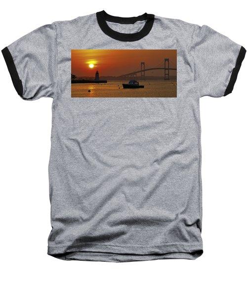 Newport Sunset Baseball T-Shirt