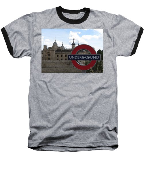 Next Stop Tower Of London Baseball T-Shirt