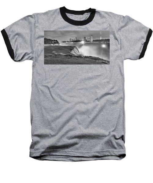 Niagara Falls Black And White Starbursts Baseball T-Shirt