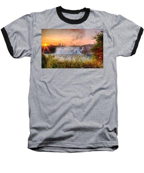 Niagara Falls Canada Sunrise Baseball T-Shirt