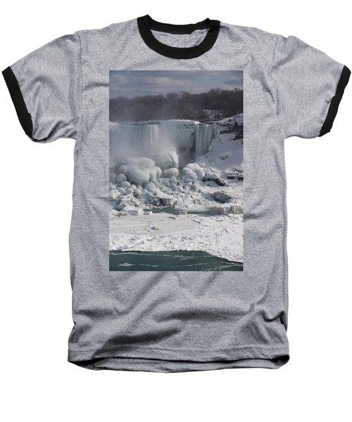 Niagara Falls Ice Buildup - American Falls New York State U S A Baseball T-Shirt