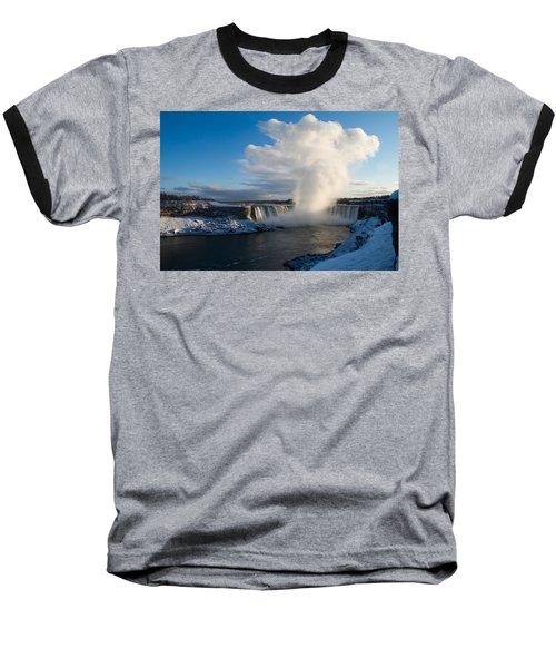 Niagara Falls Makes Its Own Weather Baseball T-Shirt