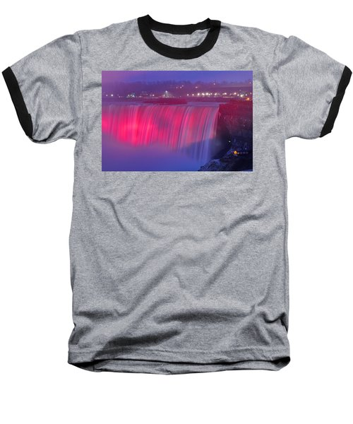 Niagara Falls Pretty In Pink Lights. Baseball T-Shirt