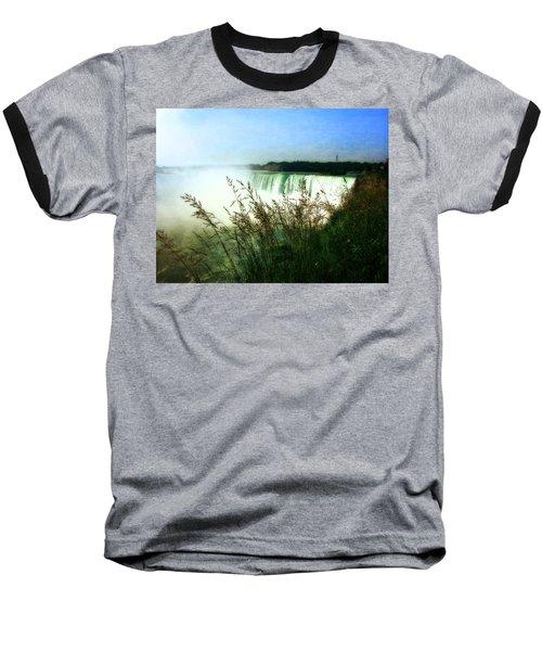 Niagara Falls With Grasses Baseball T-Shirt