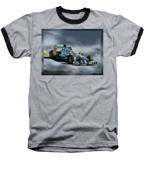 Nico Rosberg Mercedes Benz Baseball T-Shirt