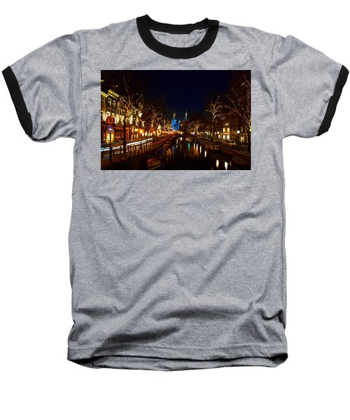 Nieuwe Spieglestraat At Night Baseball T-Shirt