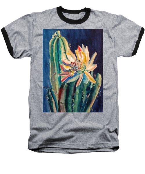 Night Blooming Cactus Baseball T-Shirt