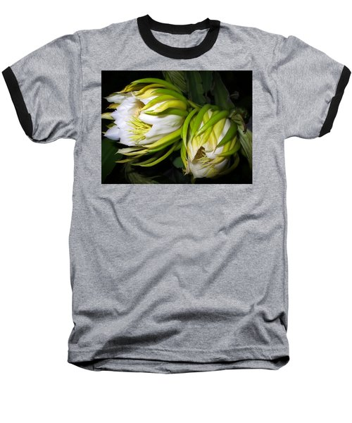 Night Blooming Cereus 31 Baseball T-Shirt