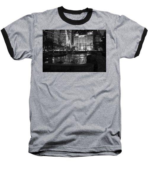 Night Central Park Lake H Baseball T-Shirt