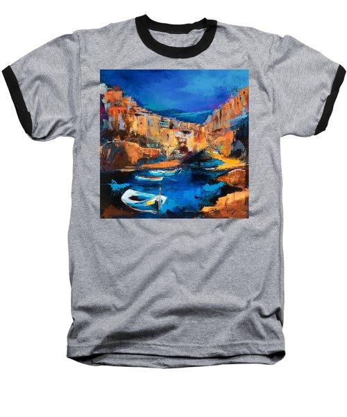 Night Colors Over Riomaggiore - Cinque Terre Baseball T-Shirt