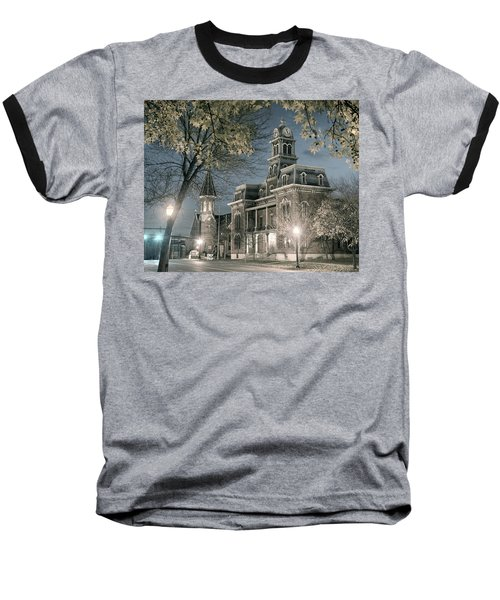 Night Court Baseball T-Shirt by William Beuther
