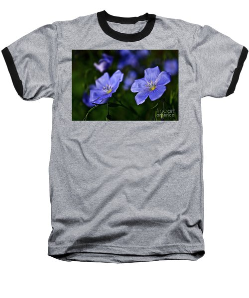 Baseball T-Shirt featuring the photograph Night Garden by Linda Bianic